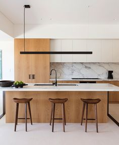 Gallery Of Methuen Residence By Daniel Boddam Local Australian Architecture & Residential Bespoke Interiors Mosman, Sydney Image 7 - The Local Project Interior Ikea, Interior Simple, Interior Design Minimalist, Small Space Interior Design, Contemporary Interior Design, Modern Kitchen Design, Modern Interior Design, Interior Design Living Room, Contemporary Kitchen Designs