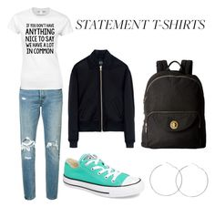"""Untitled #253"" by livygel ❤ liked on Polyvore featuring Levi's, Converse, McQ by Alexander McQueen and Baggallini"