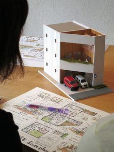 けいかく中 – Pointy-house – – 名古屋市の住宅設計事務所 フィールド平野一級建築士事務所 Arch Model, Dream House Exterior, Beautiful Hotels, Environment Design, Modern Architecture, Cool Designs, House Design, Interior Design, Sims