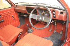 Interior of 1982 Vauxhall Chevette  www.fhdailey.com