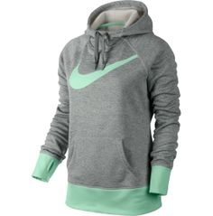25ef10837cd9 Nike Big Swoosh All Time Therma-FIT Hoodie Loving the color grey heather  green. I love mint green