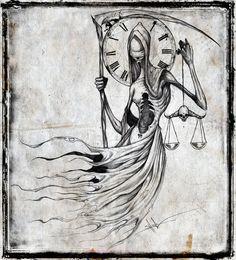 Archangel Tattoo Design by ShawnCoss on DeviantArt Creepy Drawings, Dark Drawings, Creepy Art, Cool Drawings, Arte Horror, Horror Art, Archangel Tattoo, Lady Justice, Cross Art