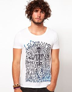 Enlarge ASOS T-Shirt With Skeleton Print
