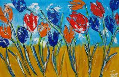Verkocht op Werk aan de Muur: Tulpen (ik hou van Holland) Holland, Poster Prints, Canvas, Projects, Paintings, Index, Tulips, Idea Paint, Wall Canvas