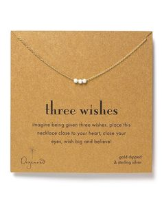 """Dogeared """"Three Wishes"""" Necklace, 16"""" 