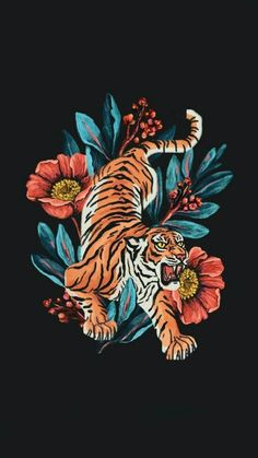"Raxenne on is part of drawings - Hello agaaain! I'm Raxenne, a graphic designer and illustrator from the 🇵🇭! I love drawing flora, fauna, and patterns Trying a more detailed style this year! (See first photo hehe) 😚🌷🐍🐅🌿💖 VisibleWomen"" Tiger Illustration, Japon Illustration, Illustration Tumblr, Tattoo Illustration, Inspiration Art, Art Inspo, Tattoo Inspiration, Love Drawings, Art Drawings"