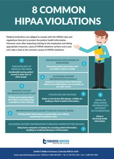 In spite of being aware of the HIPAA rules and regulations, several cases of violations are spotted every year. Here are the common causes of HIPAA violations: Medical Social Work, Medical Coder, Medical Billing And Coding, Nursing Management, Risk Management, Dental Continuing Education, Health Information Management, Healthcare Administration, Nursing Resume
