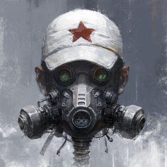 Character Concept, Character Art, Concept Art, Character Design, Gas Mask Art, Masks Art, Space Opera, Steampunk, Arte Robot