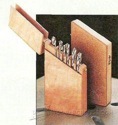 Drill Bit Storage Case Plans - Drill Tips, Jigs and Fixtures | WoodArchivist.com