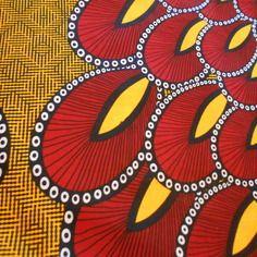 Véritable coupon tissu,  wax(pagne africain) 90cm x116cm