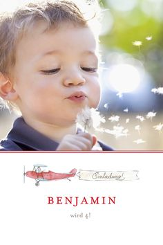 Geburtstagseinladung Flugzeug by Petite Alma für Geburtskarten.com #Geburtstagskarte #Flugzeug