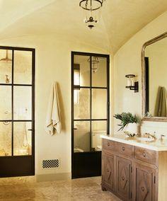 Beach Style Bathroom in Malibu, CA by Madeline Stuart & Associates