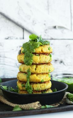 Samosa-inspired Potato Cakes (recipe) / by Minimalist Baker