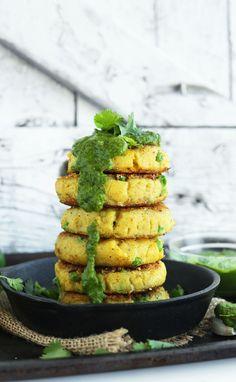 Samosa-inspired Potato Cakes (recipe) / by Minimalist Baker