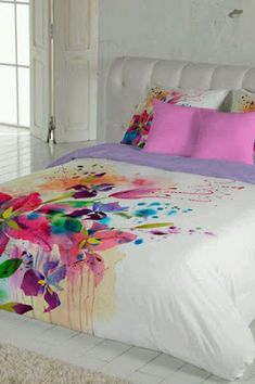 this pin was discovered by Bed Covers, Painted Beds, Sheets, Bed, Furniture, Decoupage, Bedroom Decor, Home Decor, Bed Sheets