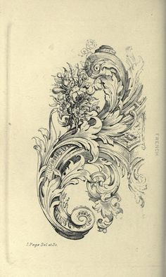 Guide for drawing the acanthus, and every description of ornamental foliage; Drawing Sketches, Art Drawings, Drawing Guide, Ornament Drawing, Carving Designs, Architectural Elements, Mehndi, Filigree, Sculpture