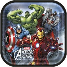 Marvel's Avengers 9 Inch Square Plates [8 Per Package] | 30333835 | $4.99
