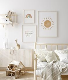 🎁 Choose 4 prints or sets of prints (add 4 items to your basket), use ⭐ 4FOR2 ⭐ code at checkout and receive 50% off on your order! ❤🎁 You Are My Sunshine, 3 Piece Wall Art, Girls Print Set, Gallery Wall Set, Rainbow Decor, Quote Print, Set Of 3 Prints, Nursery Print This charming boho nursery Boho Nursery, Baby Nursery Art, Nursery Neutral, Nursery Prints, Nursery Room, Nursery Decor, Nursery Ideas, Baby Art, Baby Room Wall Art