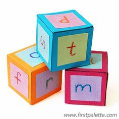 Alfabetdobbelstenen om uit te printen