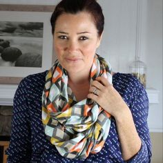 Infinity Scarf: A Simple Sewing Project for Beginners  The hidden seams make this stylish wardrobe staple look professionally made, but really it's as simple as a few straight stitches and a little hand sewing!