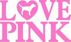 Love Pink Victoria Secret vinyl decal sticker laptop auto window wall. $5.00, via Etsy.
