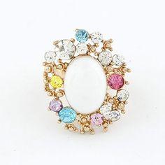 Exquisite Classic Fashion Multilcolor Diamond Rings (Multicolour)