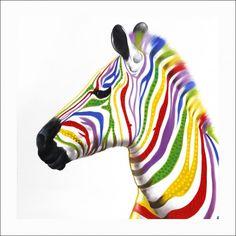 Mocka Paint Art - Zany Zebra