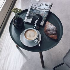 But first coffee. Then a croissant and the newspaper for breakfast. There's no better way to start the day.