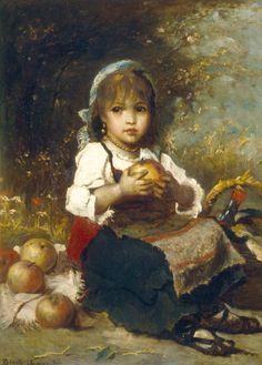Bruck Lajos - Kislány almákkal