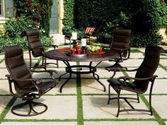 Tropitone Ravello Padded Sling Patio Aluminum Dining Set by Tropitone. $3945.24. Shop for aluminum dining sets at PatioFurnitureBuy.com today and save! When looking for top quality made in USA Tropitone furniture products for your outdoor furniture needs, this Tropitone ravello padded sling aluminum dining set (RVPSDS) will provide years of enjoyment for your furniture decor.
