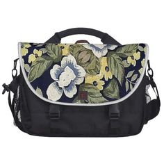 Fabric #Floral #Decorative #Pattern #CommuterBag from #zazzle