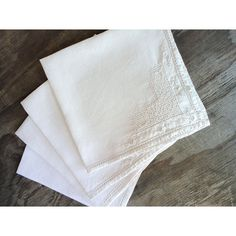 4 Antique Linen Napkins  Handworked by JustSmashingDarling on Etsy