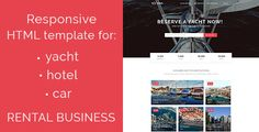 nice Nava - responsive HTML5 template for yacht, vehicle, hotel rent (Retail)