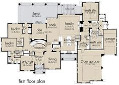 Hauspläne grundrisse  First Floor Plan of Bungalow House Plan 81153 | Exteriors and ...