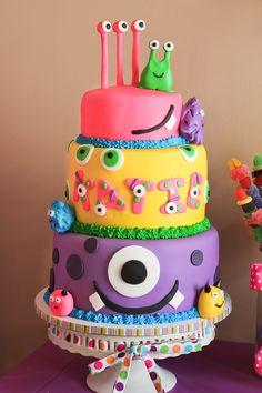 Custom Monster Birthday Cake.