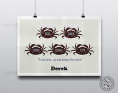 Derek - Crabs  - Minimalist Quote Poster by Posteritty #MinimalPoster #Minimalist #Posters #Prints #MinimalArt #PosterittyStyle #PosterittyQuotes