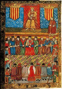 Les Corts Catalanes segons una miniatura d'un incunable del segle XV