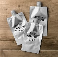 The Original Disposable Flasks (Set of 3)- for when you don't want to carry something around once you're done