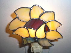 LT Stained glass yellow Sunflower night by UniqueStainedGlass, $21.00