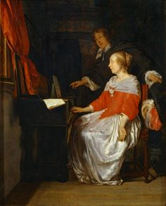 e Gabriel Metsu (Dutch Baroque Era painter, Music Lesson Famous Artists, Great Artists, Gabriel Metsu, Will Ferrell Wedding Crashers, Johannes Vermeer, Dutch Golden Age, Dutch Painters, Music Lessons, Rembrandt