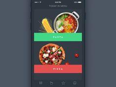 Mise en scène d'une exploration de catégories de recettes par un utilisateur.