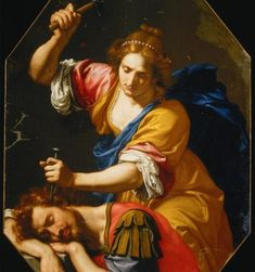 """Joel and Sisera"" - Ottavio Vannini oil on canvas Renaissance Paintings, Renaissance Art, Tattoo Italy, Judith And Holofernes, Avatar, Metal On Metal, Feminist Art, Winter Art, Mystery Books"