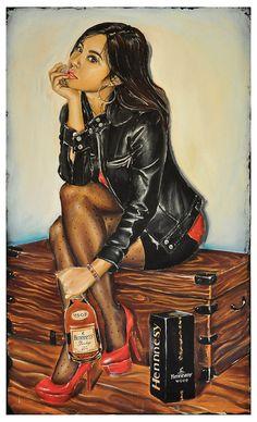 VSOP Henny by Jeremy Worst x Acrylics hennessy original fine art print digital girl sexy pose fashion urban art black asian chinese Sexy Black Art, Black Girl Art, Black Women Art, Art Girl, Pics Art, Art Pictures, Mode Collage, Gravure Illustration, Illustration Kids