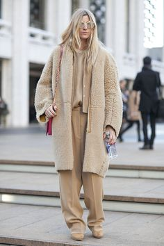 Monochromatic shearling? Yes please!!