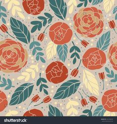 Vector seamless vintage pattern with colorful flower.Can be used for desktop wallpaper or frame for a wall hanging or poster,for pattern fills, surface textures, web page backgrounds, textile and more