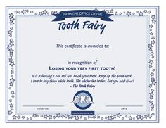 Fun, kid-friendly tooth fairy ideas to prepare for losing teeth and the much anticipated visit from the Tooth Fairy herself. Here's a Tooth Fairy Certificate Template with Dr. Christine Julian-Hoernke, DDS