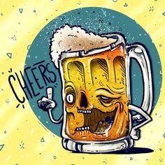 Cheers guacala !!!! 🍻🍻🔥🔥 #beer #guacala #colectivoguacala #stickers #digitalart #illustration #color #art #artwork #cheers #summer #character #characterdesign #fuckyeah #drunk Beer Cartoon, Cartoon Art, Beer Images, Beer Art, Creative Poster Design, Beer Humor, Found Art, Arte Pop, Poster Vintage