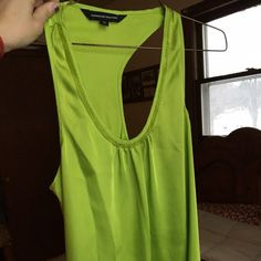 Lime green express top Express line green top good condition Express Tops Tank Tops
