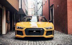 Hämta bilder Audi R8 Spyder, 2017 bilar, ABBOT, tuning, street, tyska bilar, Audi