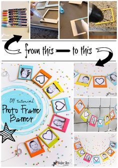This is just one of those projects I LOVE – it's so cute, easy to do, and involves displaying photos – all things I love.  It's so great when a craft looks even better done than it did in my mind  I know lots of you will be recreating this DIY Photo Frame {mini} Banner, …